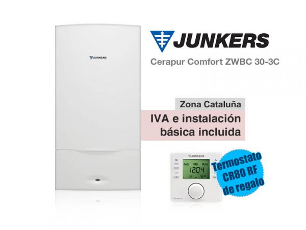 CALDERA JUNKERS CERAPUR COMFORT ZWBC 30-3C A GAS NATURAL
