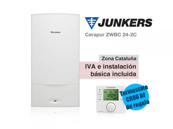 CALDERA JUNKERS CERAPUR ZWBC 24-2C A GAS NATURAL