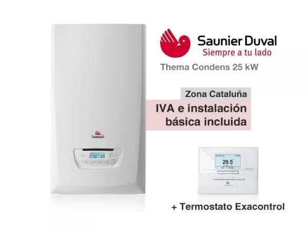 CALDERA SAUNIER DUVAL THEMA CONDENS 25 KW A GAS NATURAL + EXACON