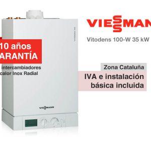 CALDERA VIESSMANN VITODENS 100-W 35 KW A GAS NATURAL