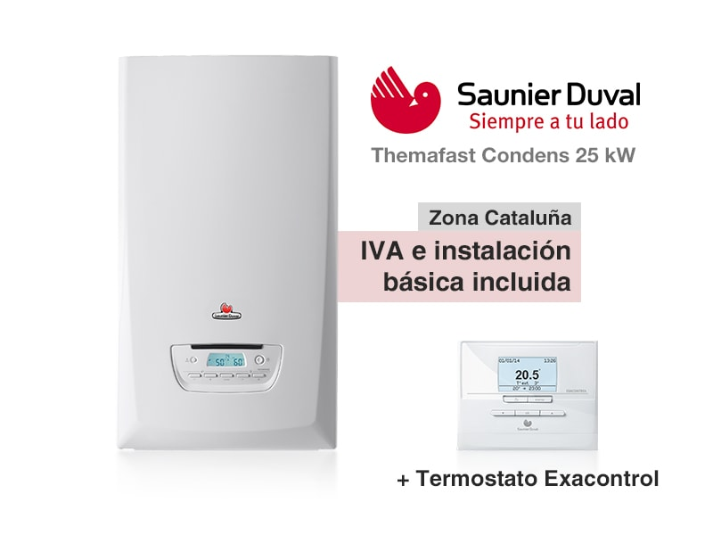 Caldera saunier duval themafast condens 25 kw a gas for Precio caldera saunier duval themafast condens f30
