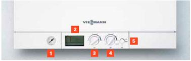 Display Caldera Viessmann Vitodens 111-W 35 kW a Gas Natural Display