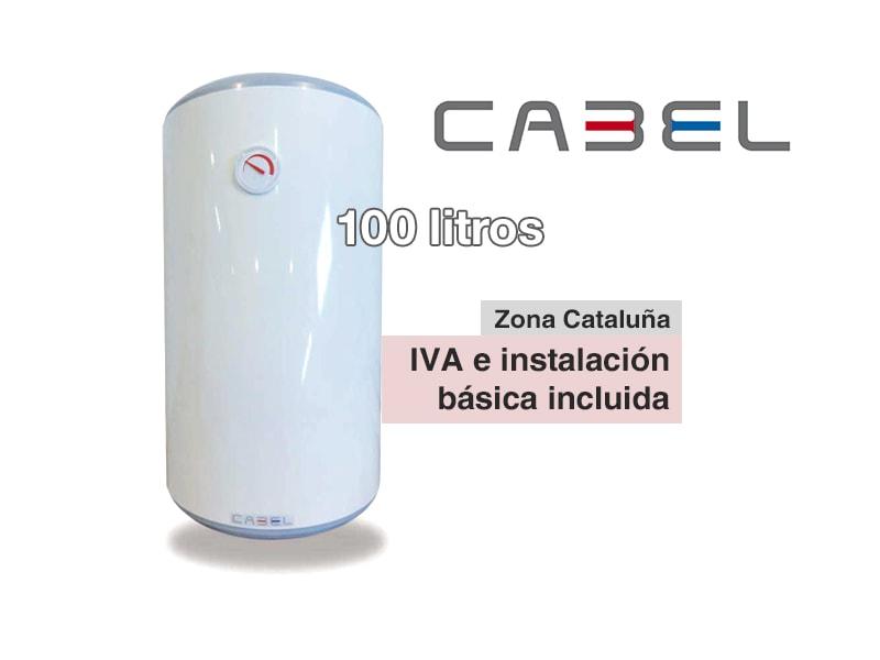 Termo el ctrico cabel 100 litros vertical for Instalacion termo electrico precio